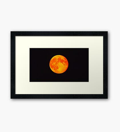 Orange Moon Framed Print