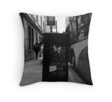 Ours in black and white Throw Pillow