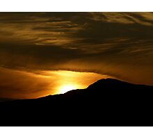 Sunset over the Mountain Photographic Print
