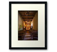 Mission San Juan Capistrano Chapel Vertical Painterly Framed Print