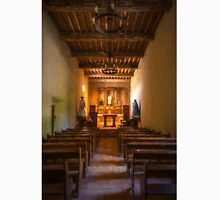 Mission San Juan Capistrano Chapel Vertical Painterly Unisex T-Shirt