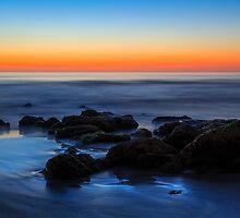 Beach Rocks Sunrise by Kenneth Keifer