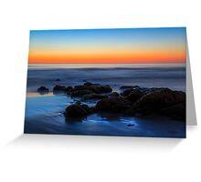 Beach Rocks Sunrise Greeting Card