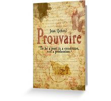Prouvaire  Greeting Card