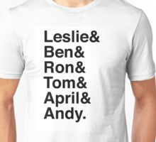 Leslie & Ben & Ron & Tom & April & Andy. (Parks & Rec) Unisex T-Shirt