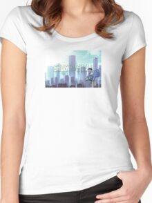 Ghost in the shell - chibi city Women's Fitted Scoop T-Shirt