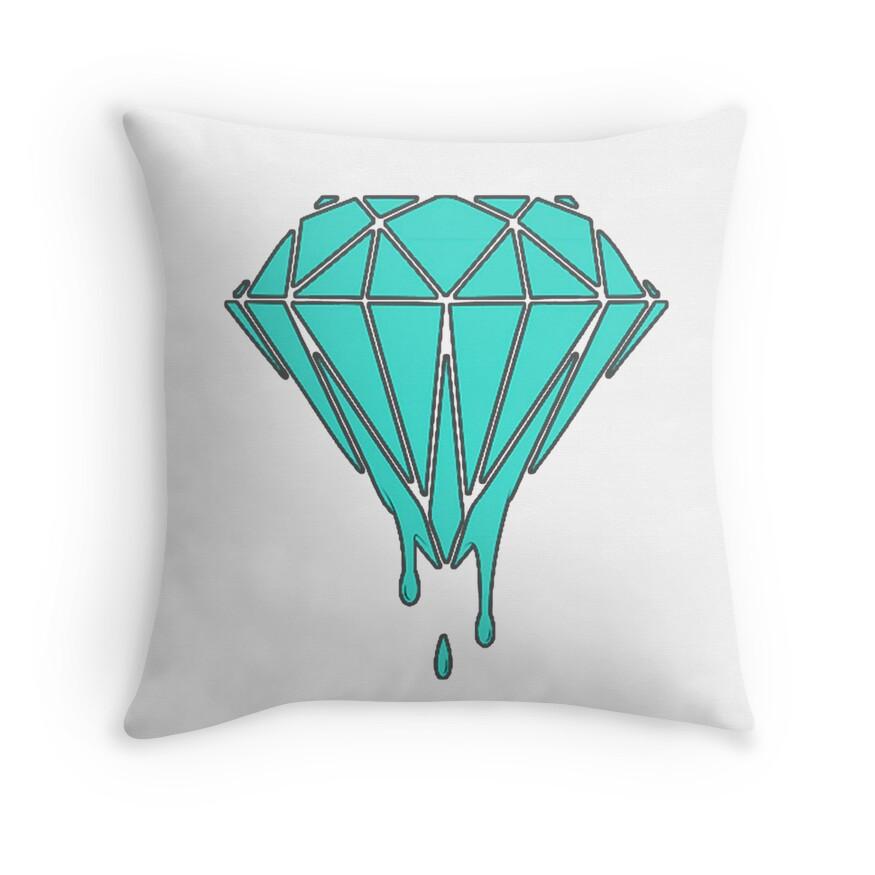 "Drippin Diamond: ""Drippin' Diamond"" Throw Pillows By Kishan2k"