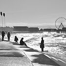 On the Front at Blackpool, February by Nicholas Coates