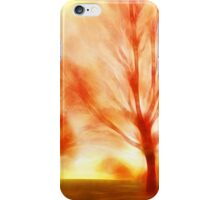 Fire trees iPhone Case/Skin