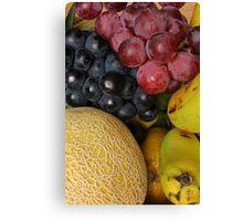 Grapes Melons and Bananas Canvas Print