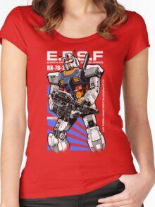 Gundam RX 78 Women's Fitted Scoop T-Shirt