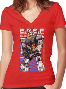 Gundam RX 78 Women's Fitted V-Neck T-Shirt