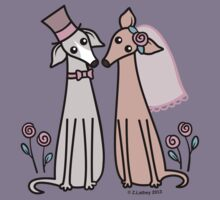 Greyhound Wedding Couple - pink Kids Clothes