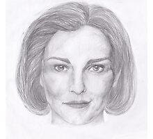Kathryn Janeway / Kate Mulgrew pencil portrait Photographic Print