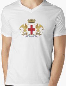 Coat of Arms of Genoa Mens V-Neck T-Shirt