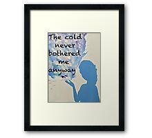 Elsa's Flurry Framed Print