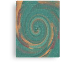 Black Maple Spiral Galaxy Mosaic Canvas Print