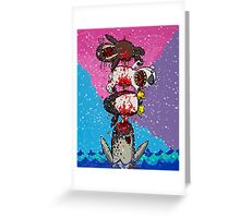 Here Comes a Narwhal! Greeting Card