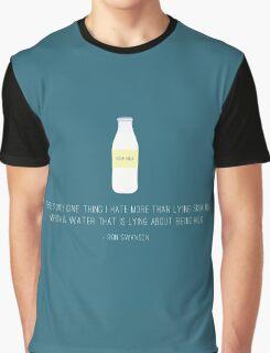 Ron Swanson Hates Lying Graphic T-Shirt