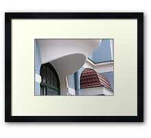 raised eyebrow Framed Print