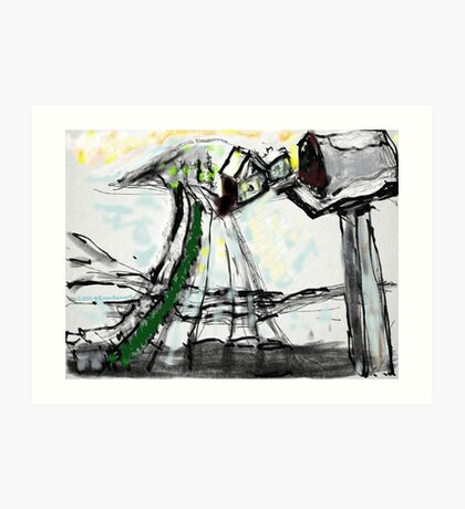 Snow Scene in The Country Art Print