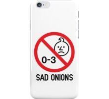 Ashens - 0-3 Sad Onions iPhone Case/Skin