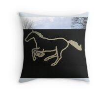 Julian Opie - Galloping Horse #2 Throw Pillow