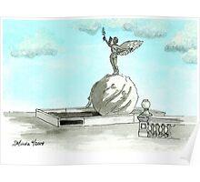 Daily Doodle 28- En Plein Air - Jacksonville Memorial Park Poster
