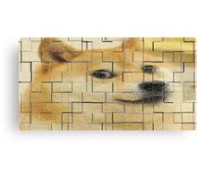 Doge Poster Tile Wow Canvas Print