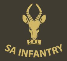 SA Infantry T-Shirt - Yellow by civvies4vets