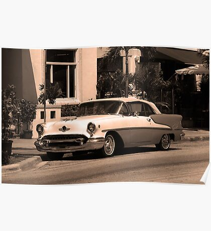 Miami Beach Classic Car Poster