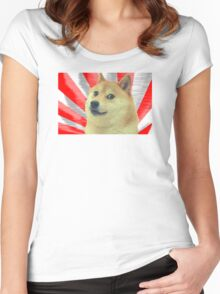 Doge Japanese  Women's Fitted Scoop T-Shirt