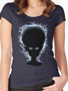 Big Brain Evil Mastermind Electro Women's Fitted Scoop T-Shirt
