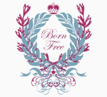 Born Free (pink text) One Piece - Short Sleeve