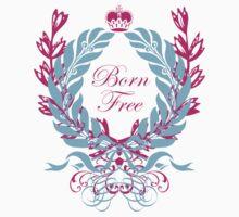Born Free (pink text) Kids Tee