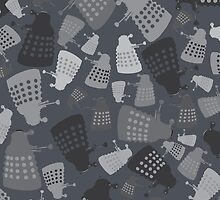 50 Shades of Grey Mini Daleks by kinxx