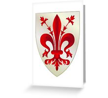 Coat of Arms of Florence  Greeting Card