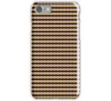 Zigzag design pattern in amber, asparagus green, sienna iPhone Case/Skin