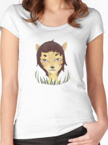 Lady Cheetah Women's Fitted Scoop T-Shirt