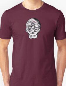 WnRn - White Black Cafe Skull Unisex T-Shirt
