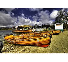 Rowing Boats at Ambleside  Photographic Print