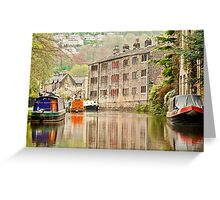 Reflections on the Rochdale Canal Greeting Card