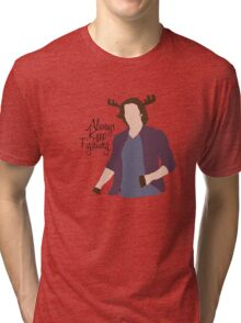 Always Keep Fighting Moose Jared Tri-blend T-Shirt