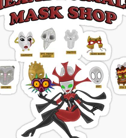 Mask shop Sticker