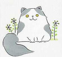 Grey and White Cat by zoel