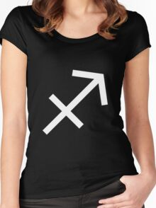 Sagittarius (astrology) Women's Fitted Scoop T-Shirt