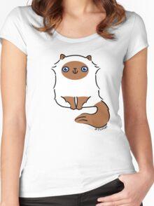Little Fluffy Kitten ... himalayan Women's Fitted Scoop T-Shirt