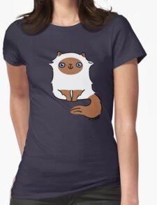 Little Fluffy Kitten ... himalayan Womens Fitted T-Shirt