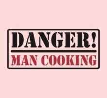 Danger - Man cooking One Piece - Short Sleeve