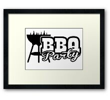 BBQ Party Framed Print
